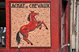 French horse meat butcher shop