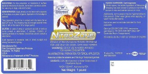 Label of US-marketed nitrofurazone dressing