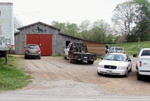 Photo by TOM SHERLIN | THE DAILY TIMES Agents with the U.S. Department of Agriculture executed a search warrant at the Larry Wheelan horse barn April  18 on Tuckaleechee Pike. The federal agents were assisted by the Blount County Society for the Prevention of  Cruelty to Animals and Blount County Sheriff's Office.