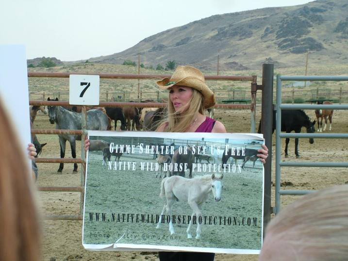 "Jetara Sethart: Protesting at At Palomino Valley. ""They kept asking me which one I had picked out to save. I choose all of them."""