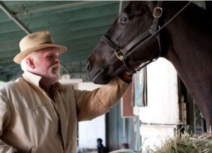 Nick Nolte appears in a scene from Luck. HBO cancelled the horse-racing series after a third horse died during production. Photograph: Gusmano Cesaretti/AP