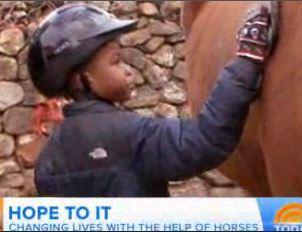 Horses help autistic children