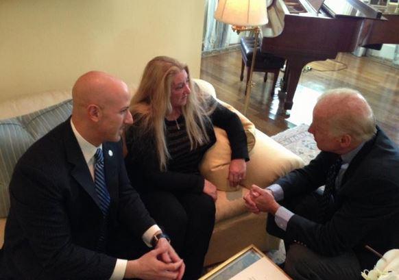 Joe Abruzzo, Victoria McCullough & VP, Joe Biden