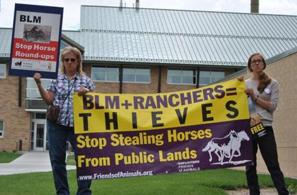 Friends of Animals protest BLM Meeting