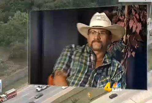 Scott York driver of Ayache's trailer
