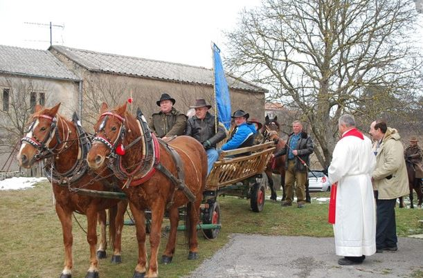 horses being blessed on St Stephens Day