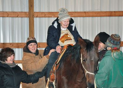 Eleanor Killerlain rides her horse one last time