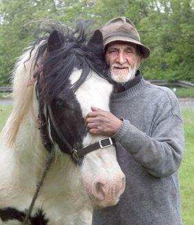 John Treagood and his horse Gildor