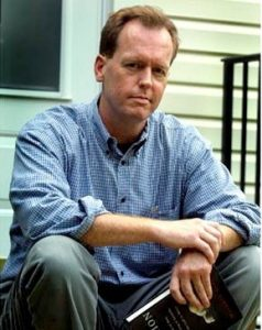 author Matthew Scully (Dominion) photograph in his house in Arlington, VA for the Federal Paper Oct. 3. 2002 by Hector Emanuel